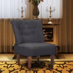 Πολυθρόνα Γαλλικού Στιλ Γκρι Υφασμάτινη