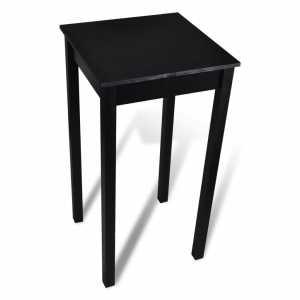 Τραπέζι Μπαρ Μαύρο 55 x 55 x 107 εκ. από MDF