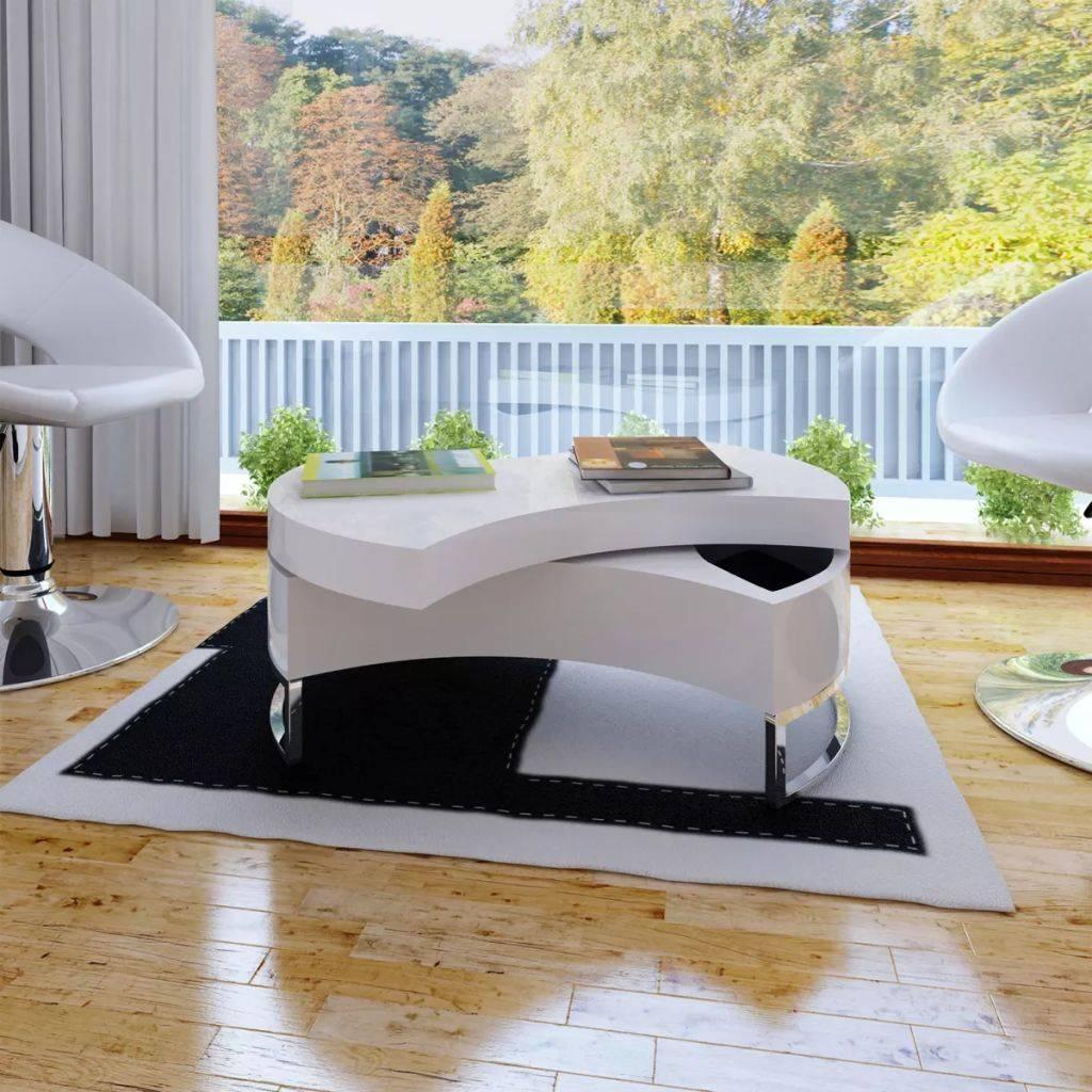 Τραπέζι σαλονιού πολυμορφικό Γυαλιστερό λευκό