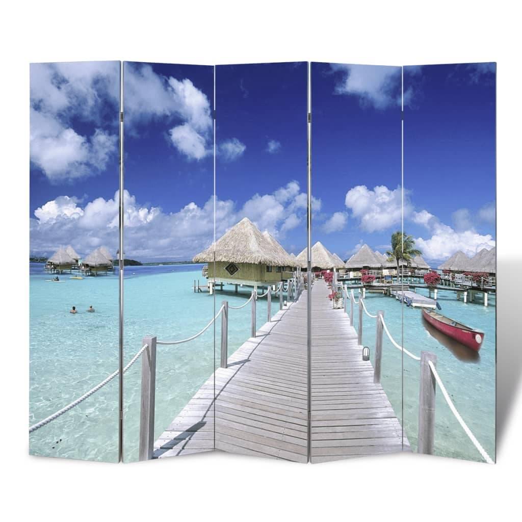 Διαχωριστικό δωματίου με ταπετσαρία παραλία 200 x 180 cm