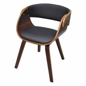Καρέκλα Τραπεζαρίας από Λυγισμένο Ξύλο και Συνθετικό Δέρμα