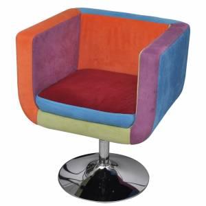 Πολυθρόνα Cube με Σχέδιο Patchwork Υφασμάτινη