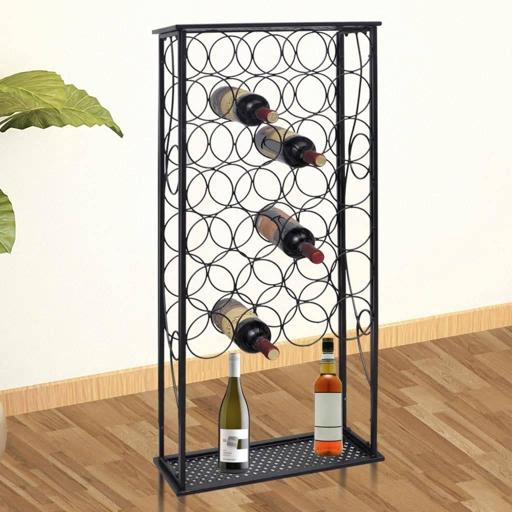 Κάβα / Ραφιέρα Κρασιών για 28 Μπουκάλια Μεταλλική