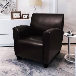 Πολυθρόνα Σκούρο Καφέ από Συνθετικό Δέρμα