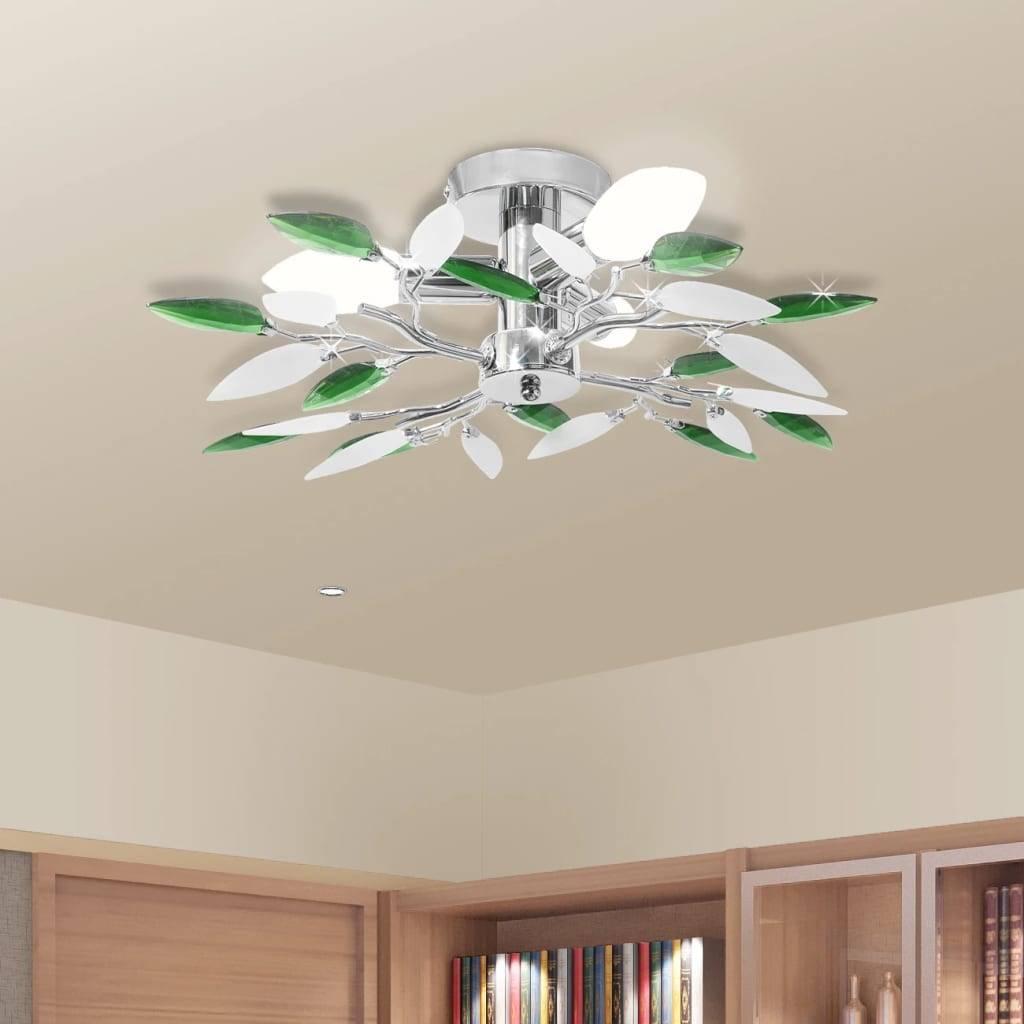 Φωτιστικό οροφής με βραχίονες σε σχήμα φύλλου ακρυλλικό κρύσταλλο