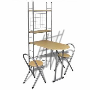 Αναδιπλούμενο Σετ Πρωινού με Πάγκο και 2 Καρέκλες