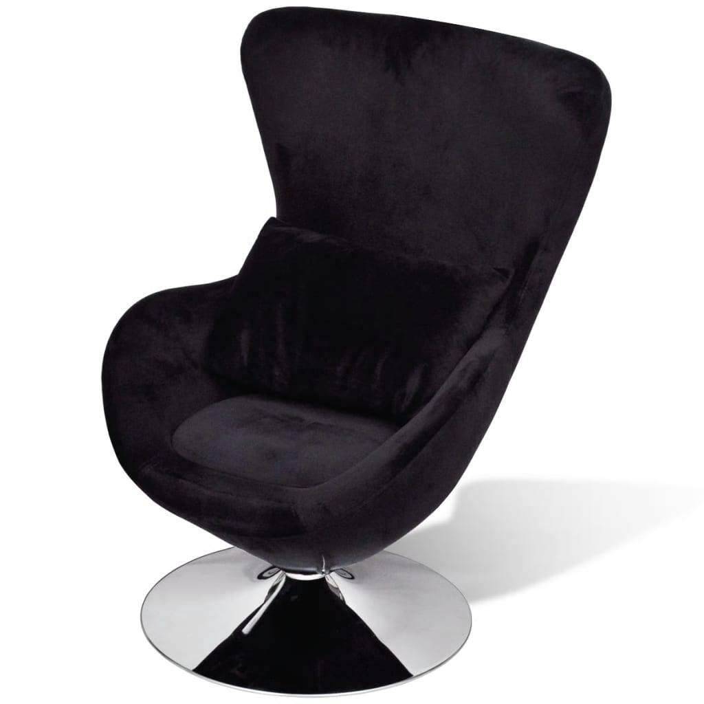 Πολυθρόνα με Σχέδιο Egg Μαύρη