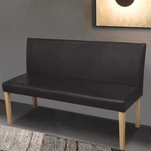 Σκούρο Καφέ Καναπές - Παγκάκι από Συνθετικό Δέρμα