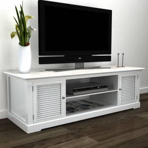 Λευκό Ξύλινο Έπιπλο Τηλεόρασης