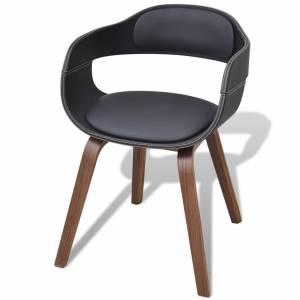 Καρέκλα Τραπεζαρίας από Λυγισμένο Ξύλο / Συνθετικό Δέρμα