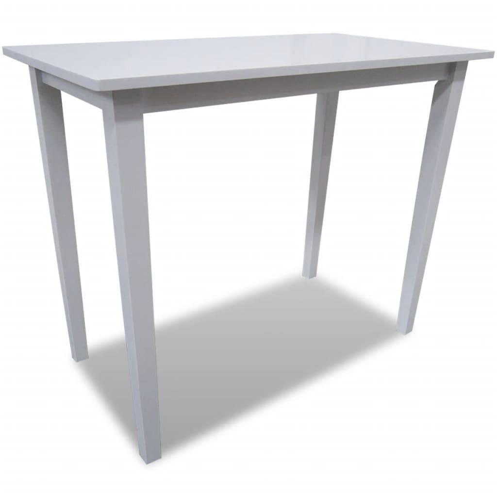 Τραπέζι Μπαρ Λευκό Ξύλινο