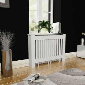 Κάλυμμα Καλοριφέρ / Ντουλάπι Θέρμανσης Λευκό 112 εκ. από MDF