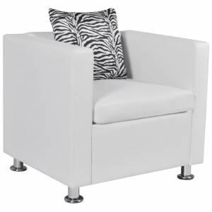 Πολυθρόνα Λευκή από Συνθετικό Δέρμα