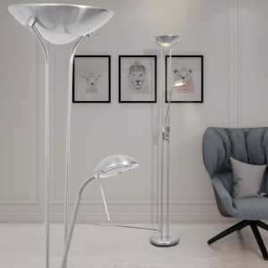 Φωτιστικό Δαπέδου LED 23 W με Dimmer με Κωνικό Καπέλο