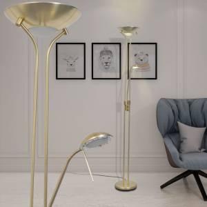 Φωτιστικό Δαπέδου LED 23 W με Dimmer Μπρονζέ