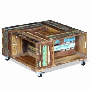 Τραπεζάκι Σαλονιού 70 x 70 x 35 εκ. από Ανακυκλωμένο Ξύλο