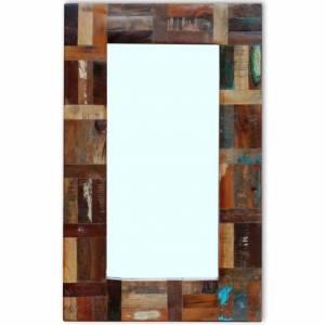 Καθρέφτης 80 x 50 εκ. από Μασίφ Ανακυκλωμένο Ξύλο