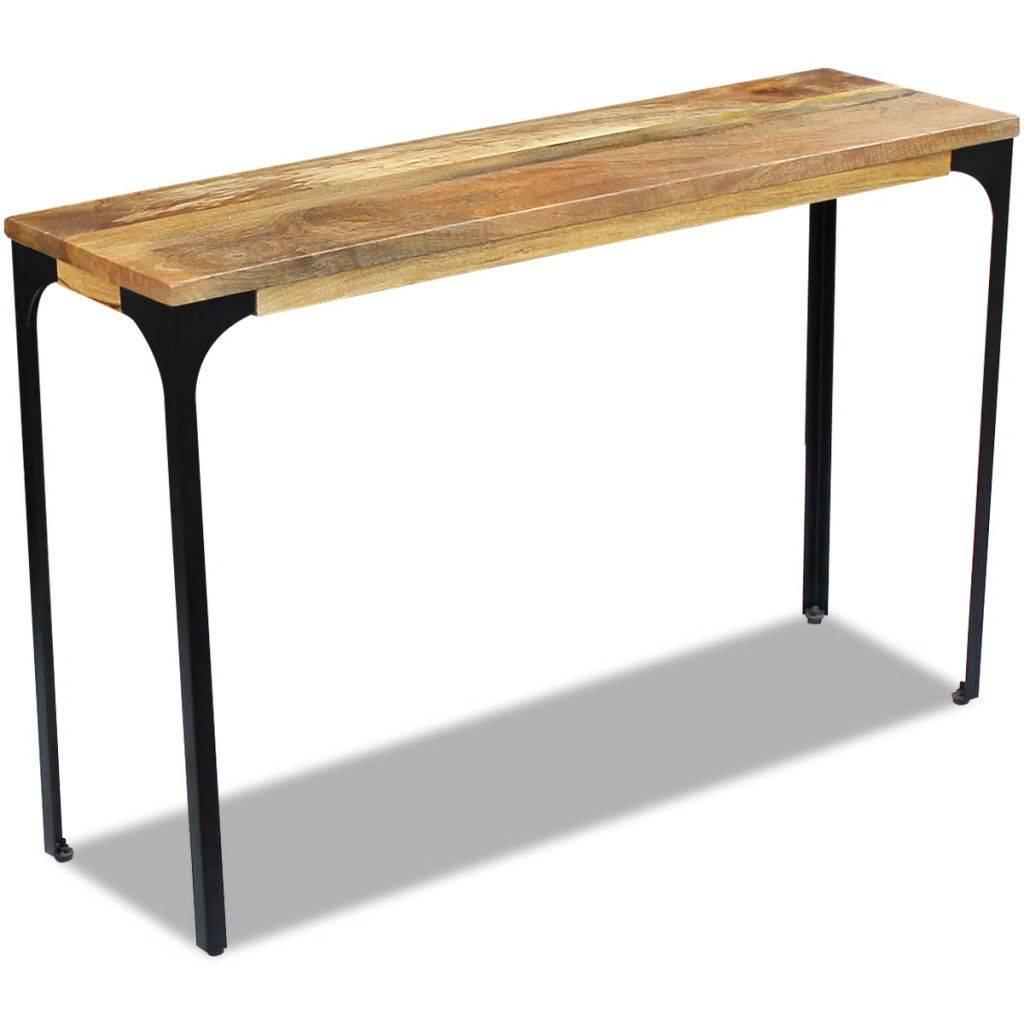 Κονσόλα Τραπέζι 120 x 35 x 76 εκ. από Ξύλο Μάνγκο