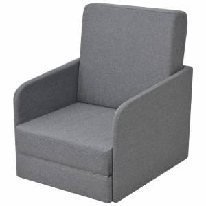 Πολυθρόνα-Κρεβάτι Ανοιχτό Γκρι Υφασμάτινη