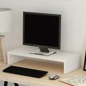 Βάση Οθόνης Λευκή 60 x 23,5 x 12 εκ. από Μοριοσανίδα