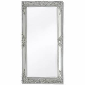Καθρέφτης Τοίχου  με Μπαρόκ Στιλ Ασημί 100 x 50 εκ.