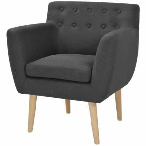 Πολυθρόνα Σκούρο Γκρι 67 x 59 x 77 εκ. Υφασμάτινη