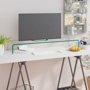 Βάση Τηλεόρασης/Οθόνης Διάφανη 100 x 30 x 13 εκ. Γυάλινη