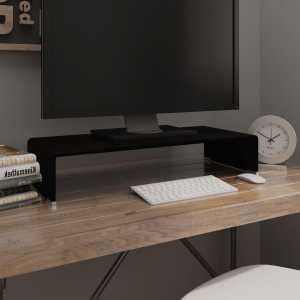 Βάση Τηλεόρασης/Οθόνης Μαύρη 70 x 30 x 13 εκ. Γυάλινη