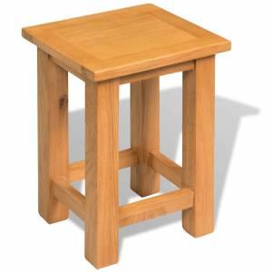 Τραπέζι Βοηθητικό 27 x 24 x 37 εκ. από Μασίφ Ξύλο Δρυός