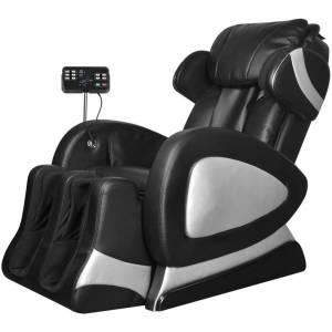 Πολυθρόνα Μασάζ Μαύρη από Δερματίνη με «Super Screen»
