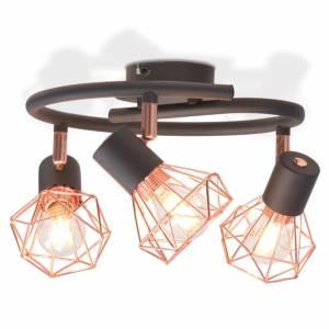 Φωτιστικό Οροφής με 3 Λαμπτήρες LED Filament 12 W