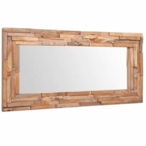 Καθρέφτης Διακοσμητικός Ορθογώνιος 120 x 60 εκ. από Ξύλο Teak