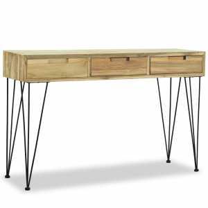 Τραπέζι Κονσόλα 120 x 35 x 76 εκ. από Μασίφ Ξύλο Teak