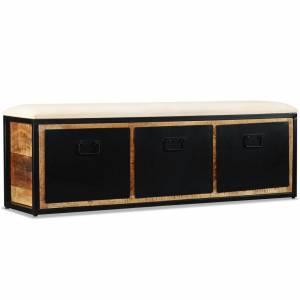 Πάγκος Αποθήκευσης με 3 Συρτάρια 120x30x40 εκ Μασίφ Ξύλο Μάνγκο