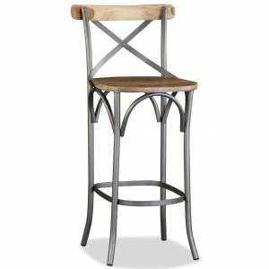 Καρέκλα Μπαρ από Μασίφ Ξύλο Μάνγκο