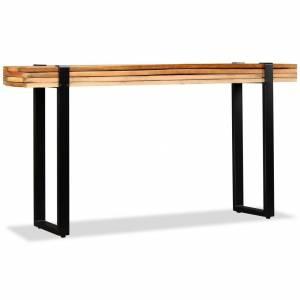 Τραπέζι Κονσόλα Ρυθμιζόμενο από Μασίφ Ανακυκλωμένο Ξύλο