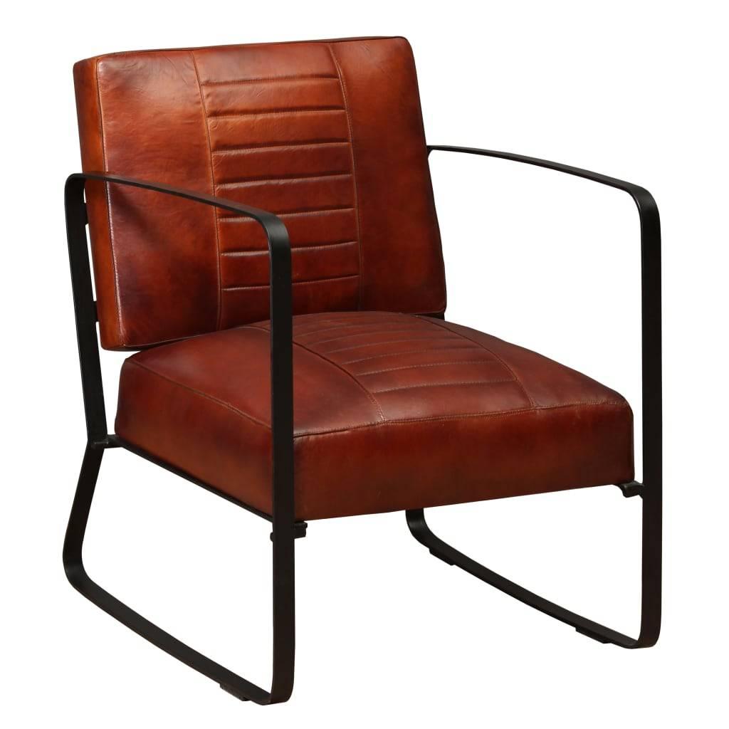 Πολυθρόνα Καφέ από Γνήσιο Δέρμα