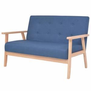 Καναπές Διθέσιος Μπλε Υφασμάτινος