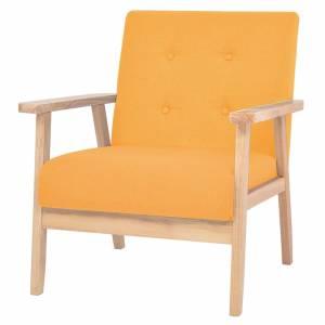 Πολυθρόνα Κίτρινη Υφασμάτινη