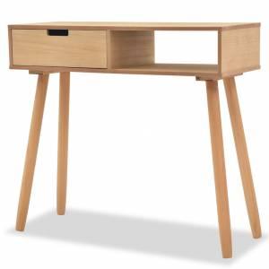 Τραπέζι Κονσόλα Καφέ 80 x 30 x 72 εκ. από Μασίφ Ξύλο Πεύκου