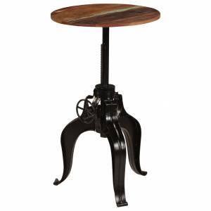 Τραπέζι Μπαρ 60 x (76-110) εκ. από Μασίφ Ανακυκλωμένο Ξύλο