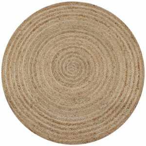 Χαλί Πλεκτό Στρογγυλό 90 εκ. από Γιούτα