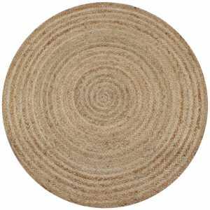 Χαλί Πλεκτό Στρογγυλό 150 εκ. από Γιούτα