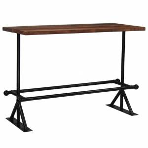 Τραπέζι Μπαρ Σκούρο Καφέ 150x70x107 εκ. Μασίφ Ανακυκλωμένο Ξύλο