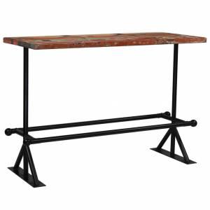 Τραπέζι Μπαρ Πολύχρωμο 150x70x107 εκ. Μασίφ Ανακυκλωμένο Ξύλο