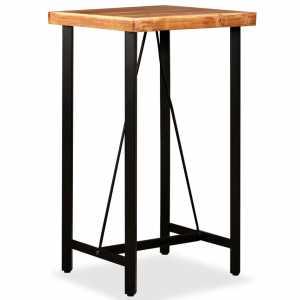 Τραπέζι Μπαρ 60 x 60 x 107 εκ. από Μασίφ Ξύλο Sheesham
