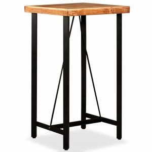 Τραπέζι Μπαρ 60 x 60 x 107 εκ. από Μασίφ Ξύλο Ακακίας