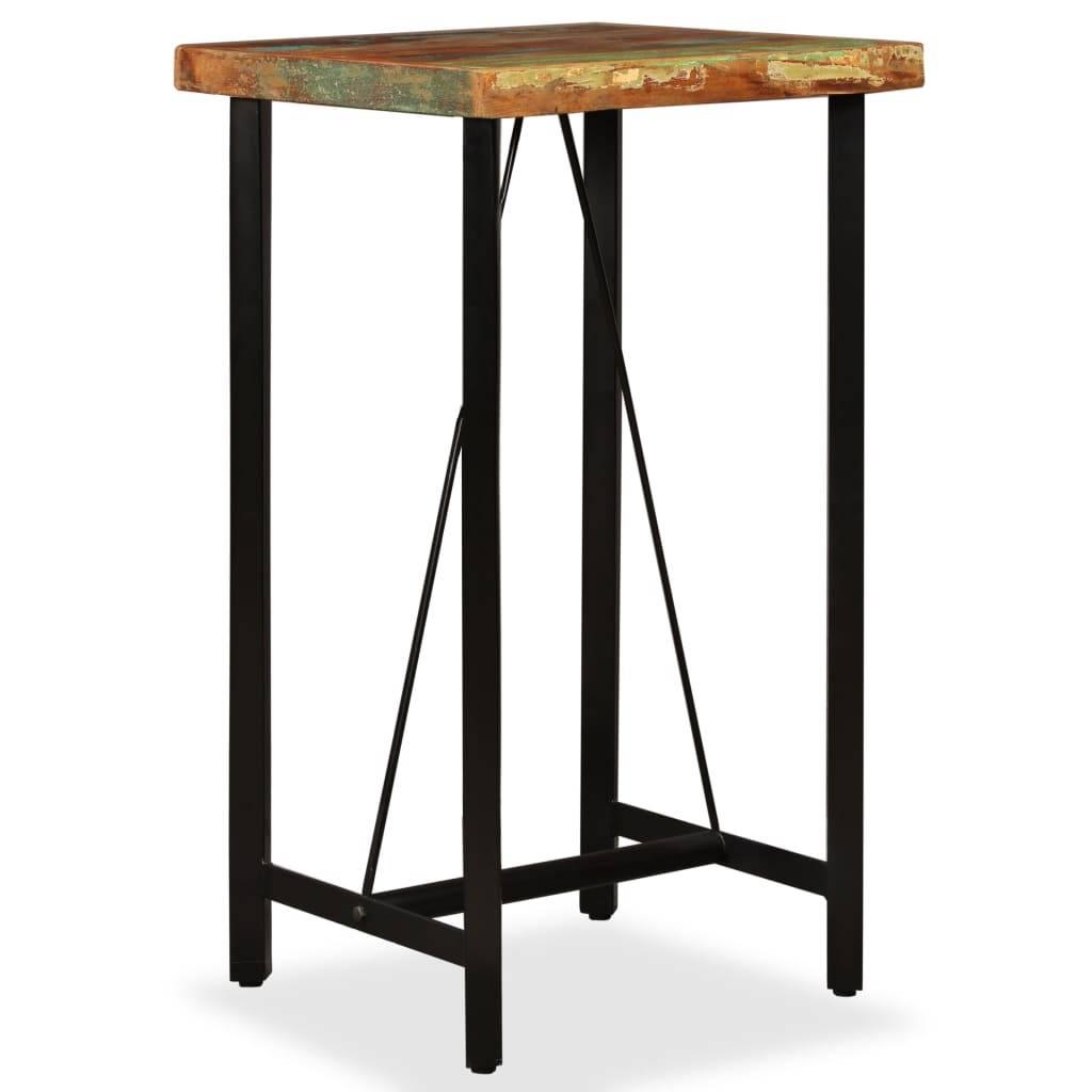 Τραπέζι Μπαρ 60 x 60 x 107 εκ. από Μασίφ Ανακυκλωμένο Ξύλο