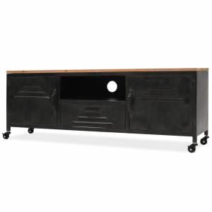 Έπιπλο Τηλεόρασης Μαύρο 120 x 30 x 43 εκ.