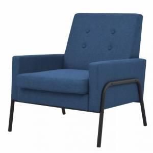 Πολυθρόνα Μπλε από Ατσάλι και Ύφασμα